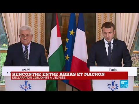 REPLAY - Déclaration conjointe de Mahmoud Abbas et Emmanuel Macron à l'Elysée