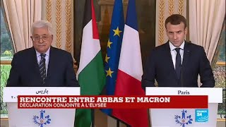 REPLAY - Déclaration conjointe de Mahmoud Abbas et Emmanuel Macron à l\'Elysée