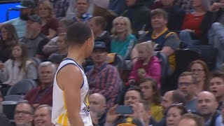 Stephen Curry Exchanges Words With Trash Talking Jazz Fan! Warriors vs Jazz