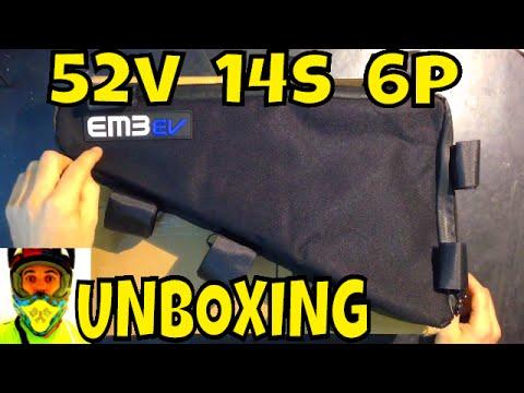 Unboxing EM3ev 52v 14s 6p 19Ah High density premium triangle battery from  Paul - Electric Bike
