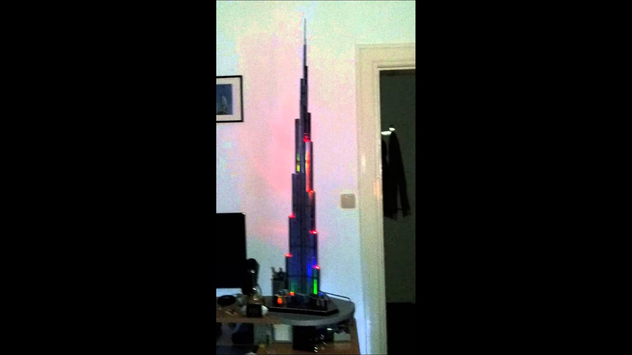 Burj Khalifa 3d Led Model Youtube