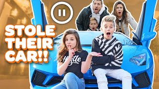 *STOLE A LAMBORGHINI* Pause Challenge with BOYFRIEND (THE ROYALTY FAMILY) | Piper Rockelle