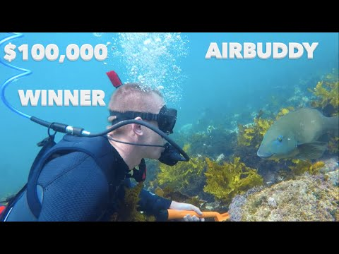 BIGGEST TREASURE Find $100,000 Reward AIRBUDDY, Worlds Lightest Dive System is Here