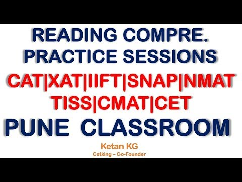 RC Practice Sessions for CAT|XAT|IIFT|SNAP|NMAT TISS|CMAT|CET