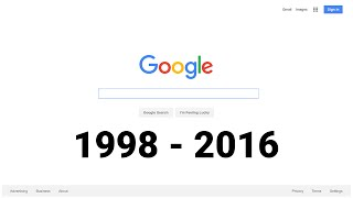 18 Years of the Google Homepage (1998-2016) thumbnail