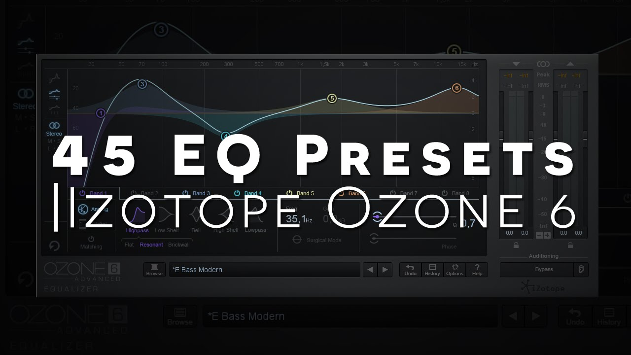 45 EQ presets for Ozone 6 via Live's EQ 8 - Joshua Casper