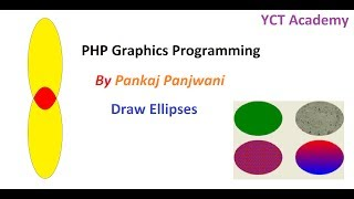 PHP Graphics Programming In Hindi : Draw ellipses  - Part 4