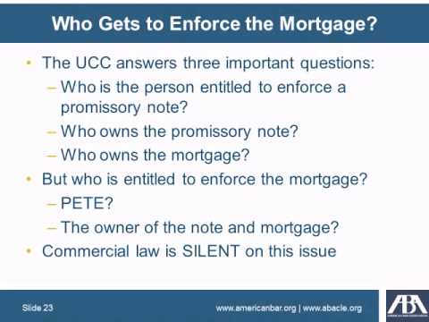 Ownership, Transfer, and Enforcement of Securitized Mortgage Loans