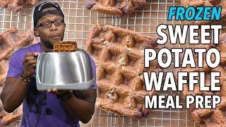 DIY Breakfast Frozen Sweet Potato Waffle Meal Prep / Gofres de Batata Congelados