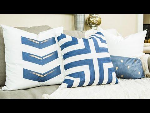 How To Diy Designer Throw Pillows Home Family