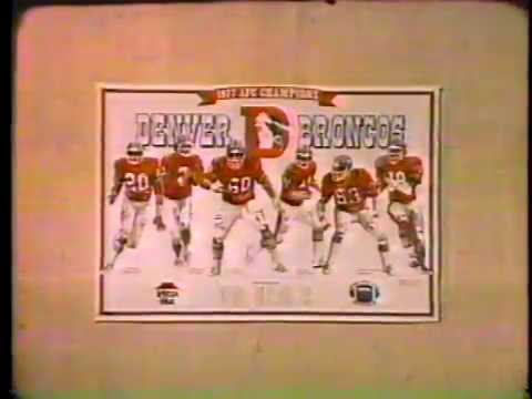 Pizza Hut 1978 Denver Broncos Place Mat Commercial
