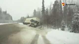 Позаботьтесь о шинах заранее: заносы фур на гололеде, аварии грузовиков на скольской дороге(, 2015-11-18T15:36:27.000Z)