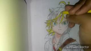 Finalização Do Desenho Do Meliodas Parte2 (Colorindo)