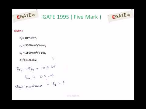Problem on Sheet Resistance (5 Mark) - GATE 1995  ECE (Electronic Devices) - www.egate.ws