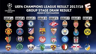 UEFA Champion League Group Stage 2017 / 2018 Draw Result ( OFFICIAL )