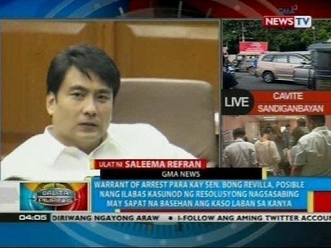 Warrant of arrest para kay Sen. Bong Revilla, posible nang ilabas anumang oras