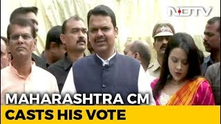 Maharashtra Assembly Election 2019: Devendra Fadnavis Casts Vote In Nagpur