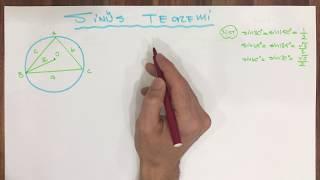 TRİGONOMETRİ - 10 (SİNÜS TEOREMİ SORU ÇÖZÜMÜ)