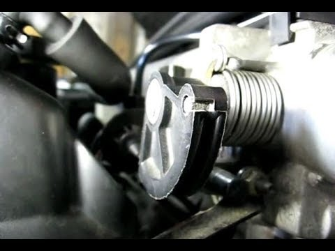 Removing Throttle Cable From Throttle Body Youtube