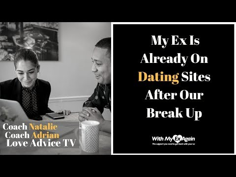 my ex is already online dating