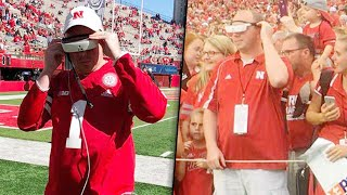 Legally Blind Man Sees Beloved Nebraska Football Team for First Time With Special Glasses
