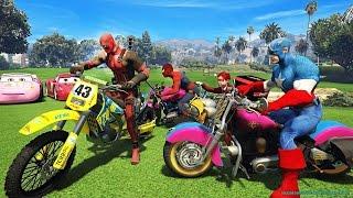 Örümcek Çocuk ve Süper Kahramanlar Motosiklet Sürüyor Çizgi Film Gibi İzle