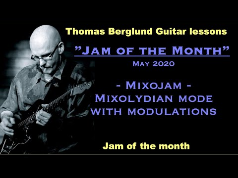 Jam of the month, May 2020 - Mixojam / Mixolydian mode with modulations - Backing track in the video
