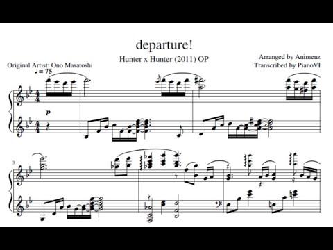 Animenz Departure Hunter X Hunter Op Piano Transcription Youtube