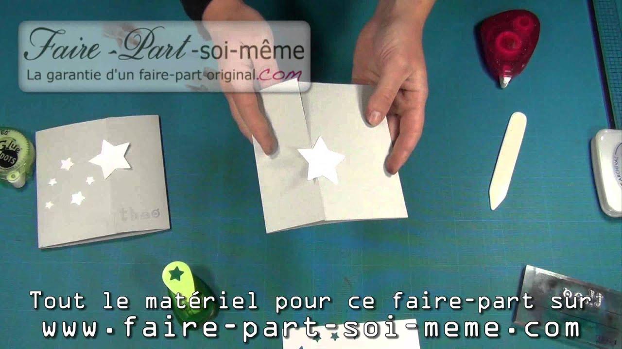 Exceptionnel Faire-part de naissance étoile - YouTube HT77