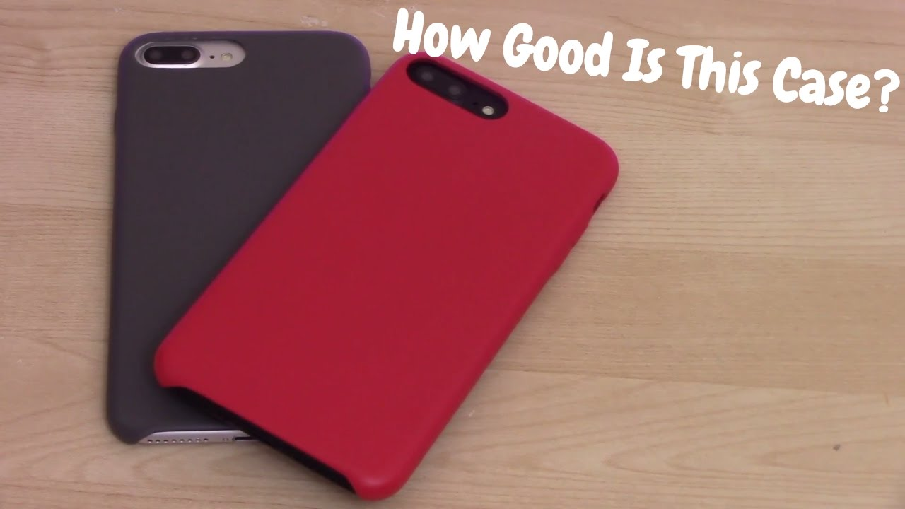 reputable site bd2d1 4d694 Is This Case A Copy Of Apple's Leather iPhone Case? | Amazon Basics Case  For iPhone 7 Plus Unboxing