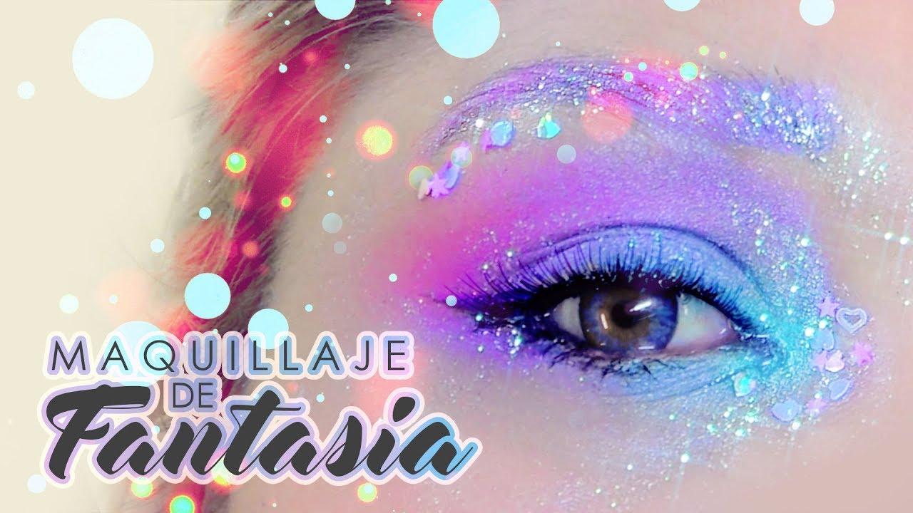 Maquillaje De Fantasia Ojitos De Sirena Resubido Youli Youtube