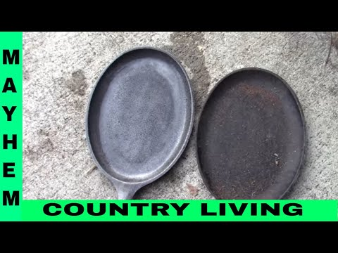 How to clean a rusty skillet