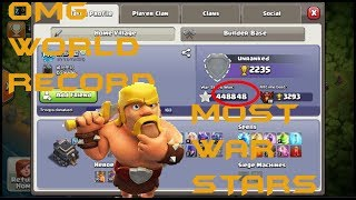 TOP 3 PLAYERS OF CLASH OF CLANS WITH MOST WAR STARS OF ALL TH