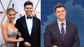 SNL's Colin Jost TRICKED Into Making Joke About Wife Scarlett Johansson