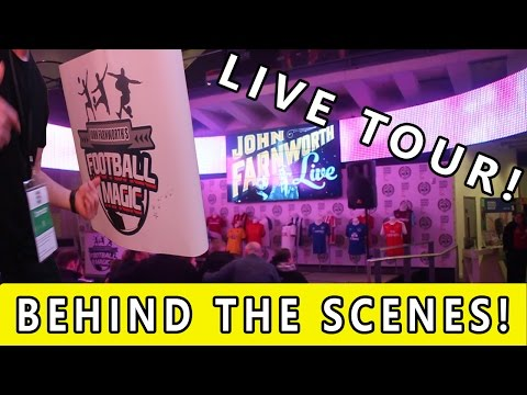 LIVE TOUR - National Football Museum - BEHIND THE SCENES!!!