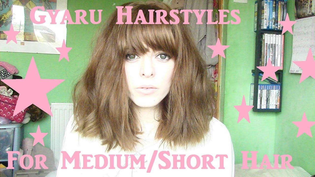 Sweet Gyaru Hairstyles for Medium Length Hair ~ 1 - YouTube