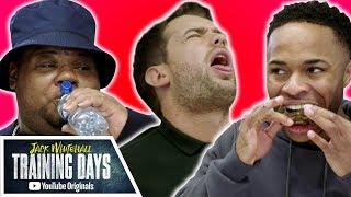 Raheem Sterling vs. Big Narstie in HOT WING CHALLENGE | Jack Whitehall: Training Days