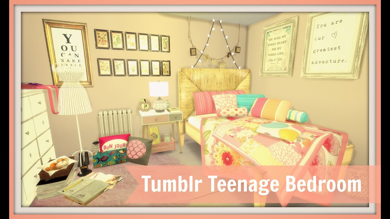 Sims 4 - Tumblr Teenage Bedroom
