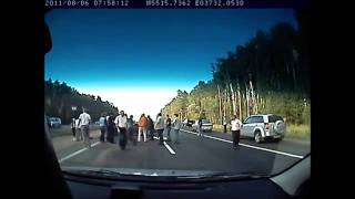 Car Accident, Overturned And The Help Of Crowd