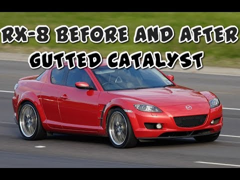 RX8 Before and After Gutted Catalyst