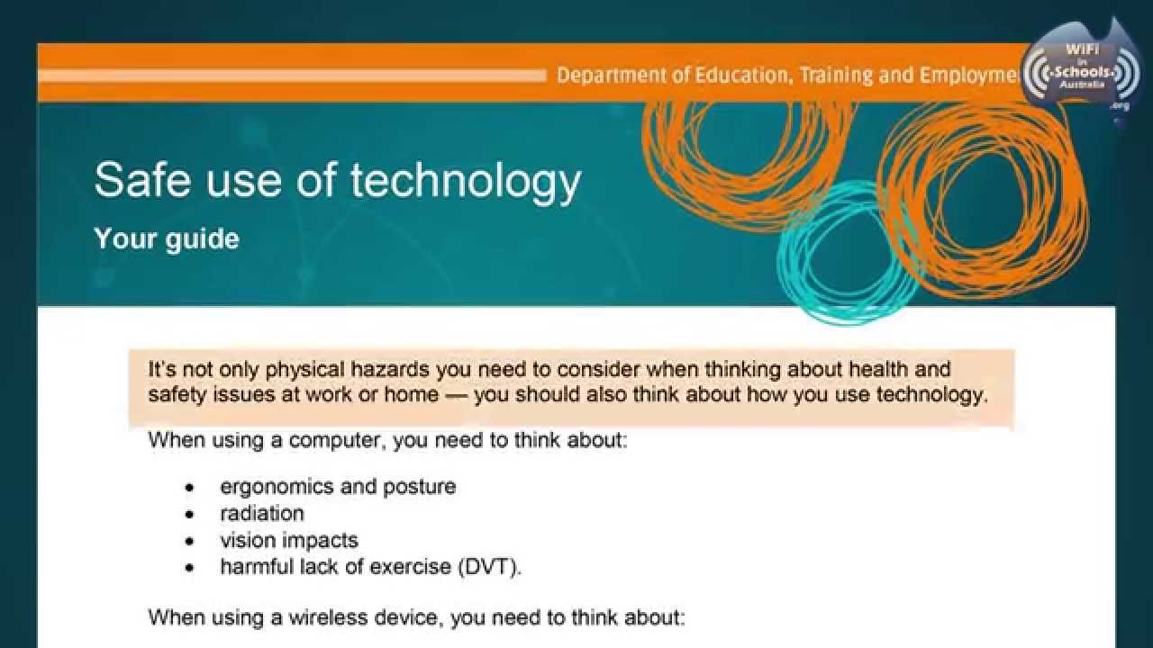 Safe Use Of Technology By Wfi In Schools Australia Youtube