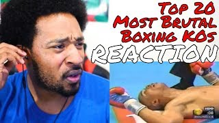 TOP 20 MOST BRUTAL KNOCKOUTS IN BOXING HISTORY REACTION - DaVinci REACTS