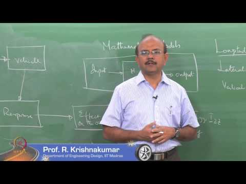 Mod-01 Lec-01 Introduction to Vehicle Dynamics