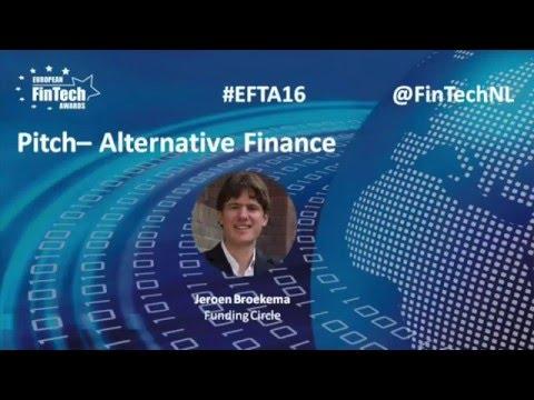 Winning pitch by Jeroen Broekema in Alternative Finance category at EU FinTech Awards 2016