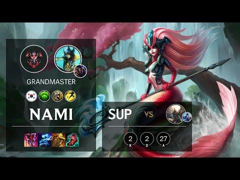 Nami Support vs Pantheon - KR Grandmaster Patch 10.23