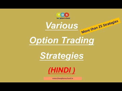 Various Option Trading Strategies |  NIFTY OPTIONS  TRADING STRATEGIES | THE OPTION SCHOOL