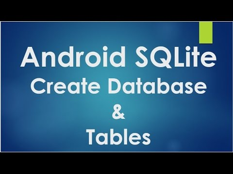 how to write a database program in android