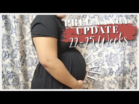 PREGNANCY UPDATE 22-25 WEEKS... Glucose Testing, New symptoms and cravings?    Baby #2