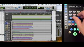 PreSonus–The Session Navigator in FaderPort 16 with Pro Tools