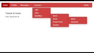 Multi level #Dropdown Menu in CSS, HTML5 & Bootstrap